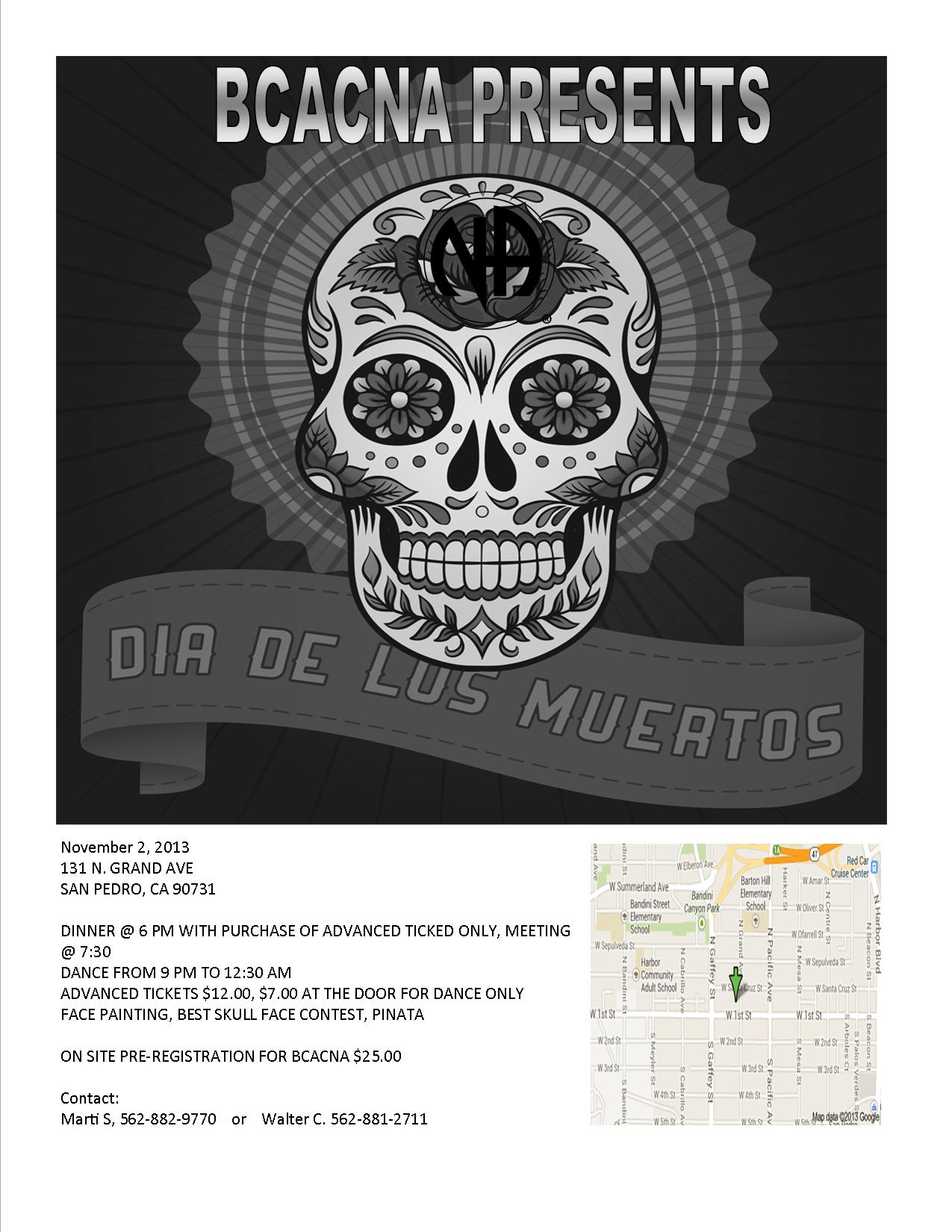 Dia De Los Muertos Flyer for Bay Cities Convention